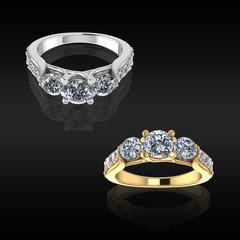 Wedding Rings on Black