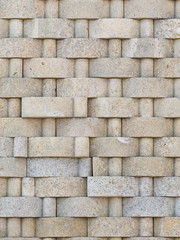 decorative wall of natural stone