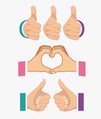 Hands gesture design