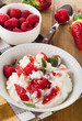 Fresh Cottage cheese with berries