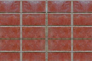 Brick wall red closeup