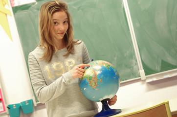 collégienne - cours de géographie