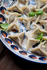 Khinkali - eastern cuisine made of dough and meat stuffing