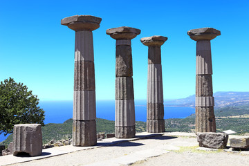 Ruined Athena Temple in Assos, Turkey
