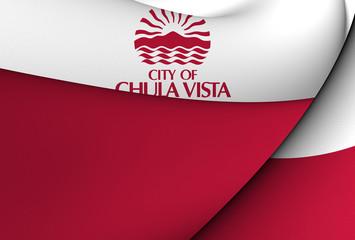 Flag of Chula Vista, USA.