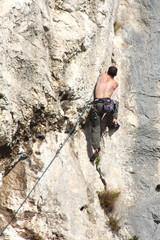 Climbing (Calanques de Marseille)