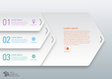 Fototapety Infographics Vector Background 3-Step Process