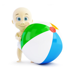 baby beach ball on a white background