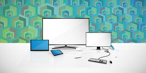 Bright desktop illustration