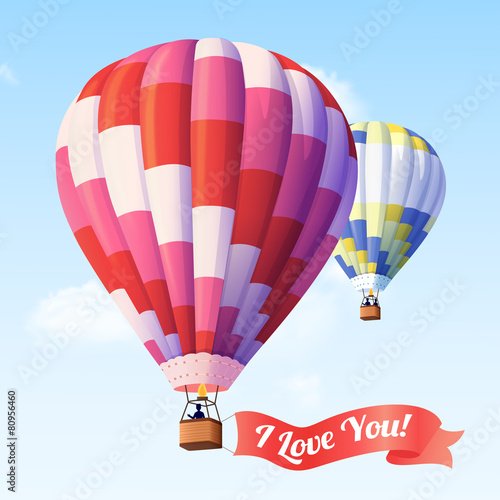 Air Balloon With Ribbon - 80956460