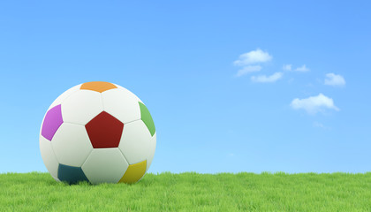 Soccer ball for children on grass
