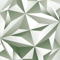 Abstract vector geometric 3D background, grayscale decorative pa