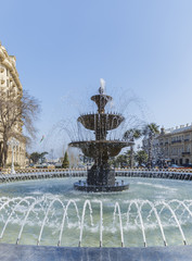 fountain in the park in Baku