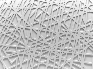 white chaos mesh background rendered