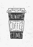 Typographic Design Coffee Cup Poster