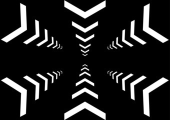 Vector multi arrow on black color background
