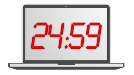 Count Down Timer animation in red 4K LCD LED
