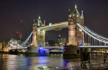 London Tower Bridge at Night HDR