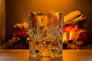 Scotch Whiskey in glass