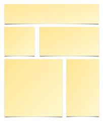 Zettel Set gelb