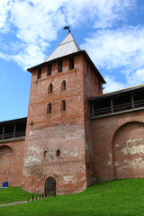 Veliky Novgorod  fortress walls and tower