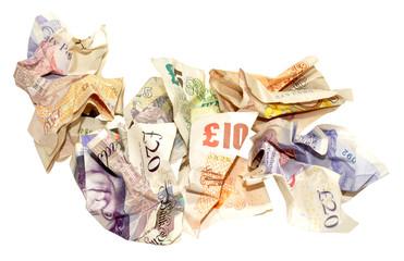 Crumpled Bank Notes