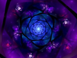 Colorful glowing space mandala