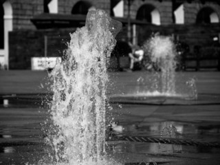 Water feature, Castle square, Turin, Italy