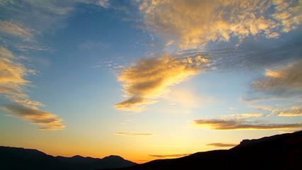 Cloudy Sky At Beautiful Sunset