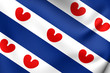 Flag of Friesland, Netherlands.