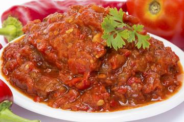 Lutenica pepper and tomato relish