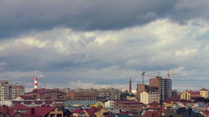 Stormy sky over city