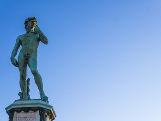 Impressive statue of Michelangelo's David, Florence, Italy