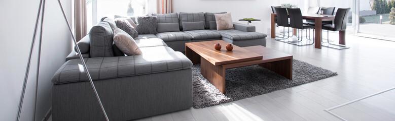 Corner sofa in drawing room