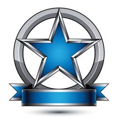 Vector stylized rounded symbol isolated on white background.  Gl