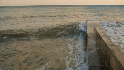 Sea Waves Rolling On Pierce
