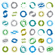 Reload icons isolated on white background vector set, loop arrow