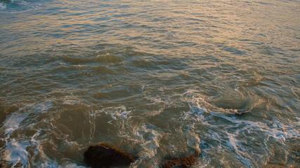 Sea Waves Crushing Against Rocks At Coastline