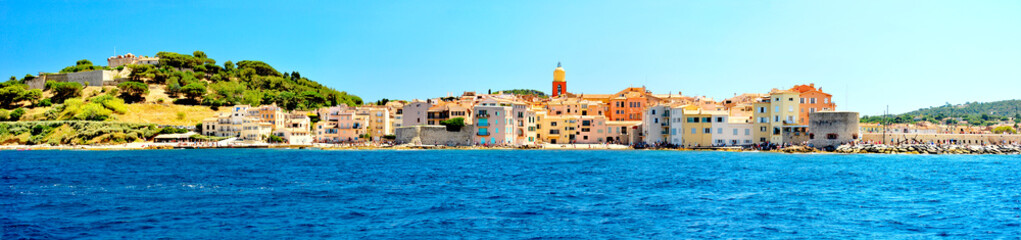France - Saint Tropez - panoramic view from sea