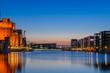 Blaue Stunde im Innenhafen Duisburg - 80965465