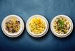 tris di primi piatti italiani