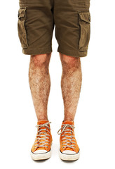 Young handsome male in shorts