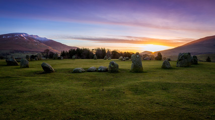 Sunrise at Castlerigg Stone Circle, The Lake District, England