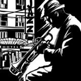 Jazz trumpet player-Vector illustration - 80967206