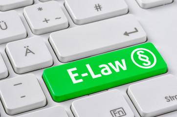 Tastatur mit farbiger Taste - E-Law