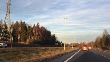 Driving on roads in Finland
