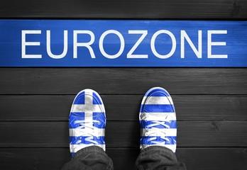 Griechen verlassen Eurozone - Konzept