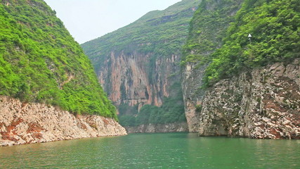 Sailing through the Three Little Gorges in Yangtze River, China