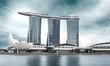 Leinwandbild Motiv landmark of Singapore