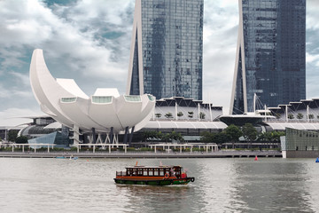 boat ride in Singapore
